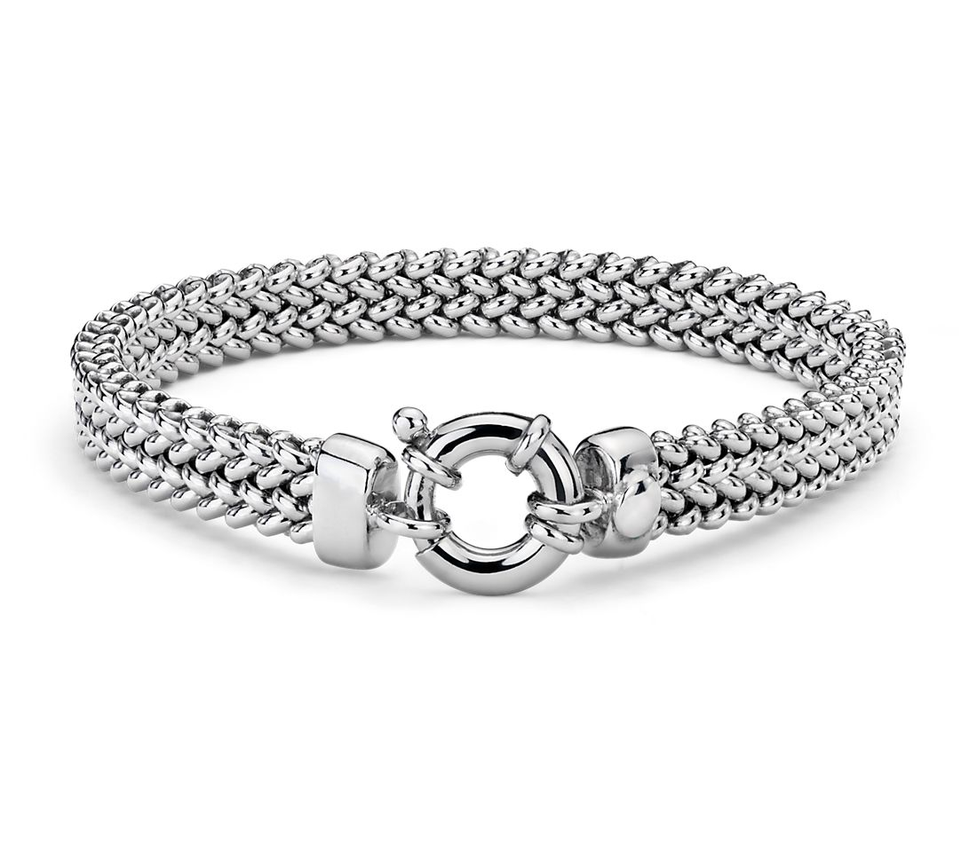 Mesh Bracelet In Sterling Silver Blue Nile