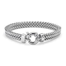 Bracelet maille en argent sterling
