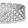 Wide Panther Bracelet in Sterling Silver