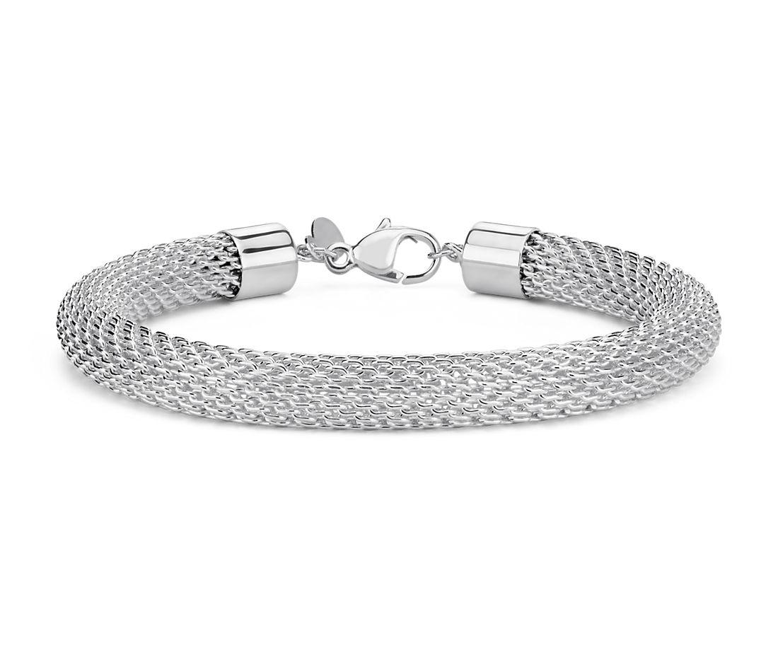 925 纯银网眼手链