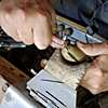 An artisan at work bringing Fantaci's ring design to life.