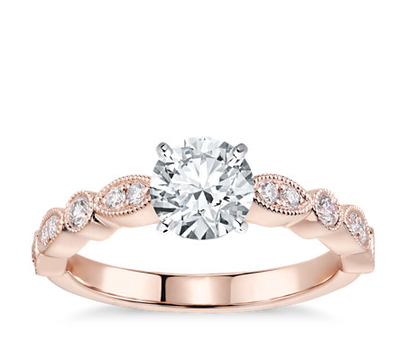 ring rings next wedding floating engagement real diamond rose gold