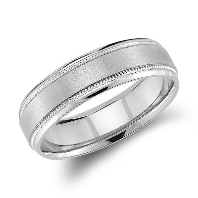 Milgrain Emery Wedding Ring in Palladium 6mm Blue Nile
