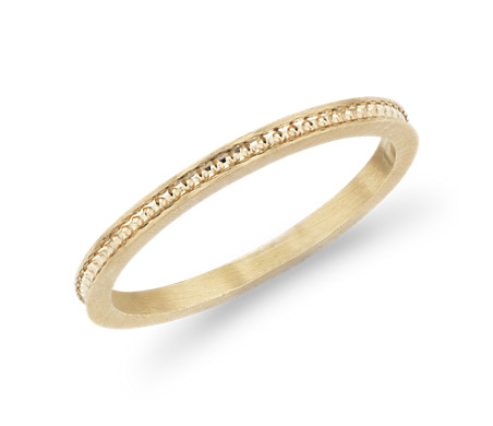 Milgrain Circle Channel Fashion Ring in 14k Yellow Gold