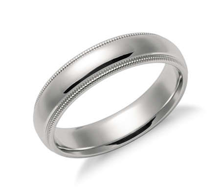 polished wedding dome band dp plain comfort titanium high ring fit rings