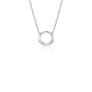 Collar circular pequeño en platino
