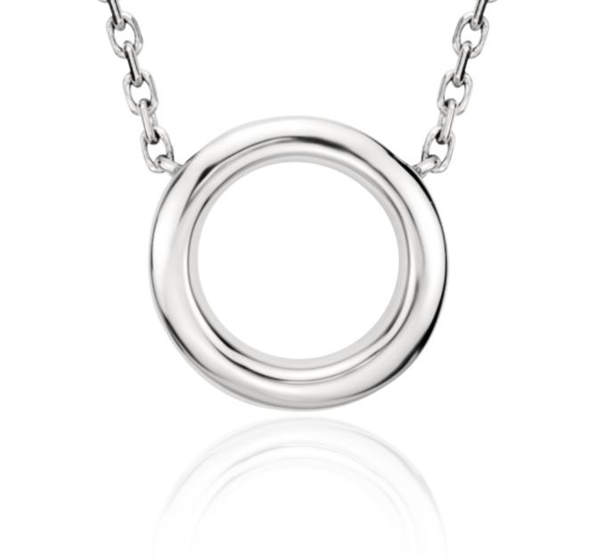 Petit collier cercle en platine