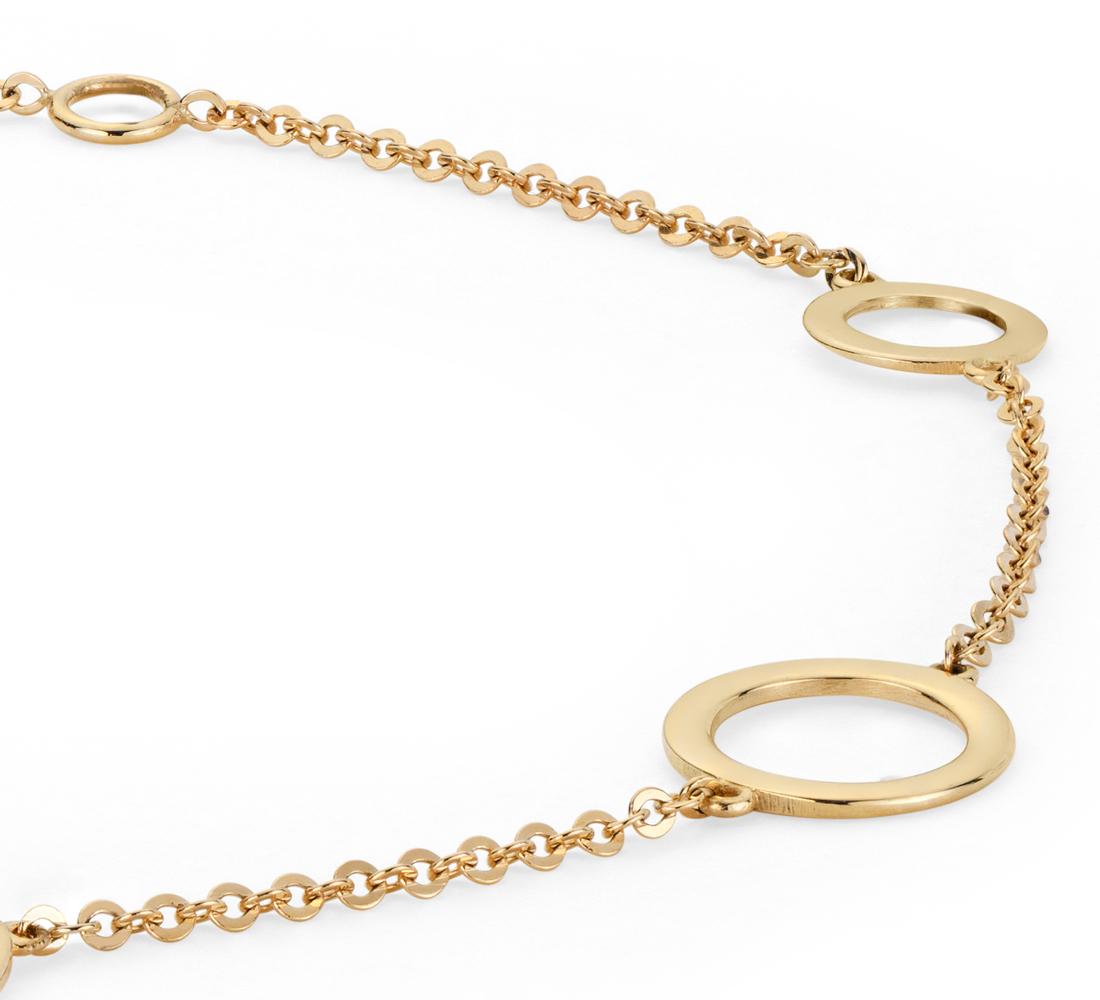 Petit bracelet cercle en or jaune 14carats