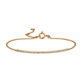 Delicate Diamond Bar Bracelet in 14k Yellow Gold (1/5 ct. tw.)
