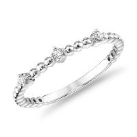 Deals on Mini Diamond Beaded Three Stackable Fashion Ring