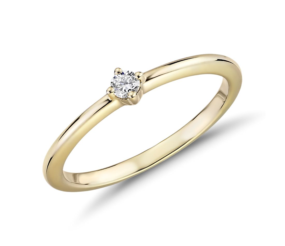 Mini Diamond Stackable Fashion Ring in 14k Yellow Gold (1/10 ct. tw.)