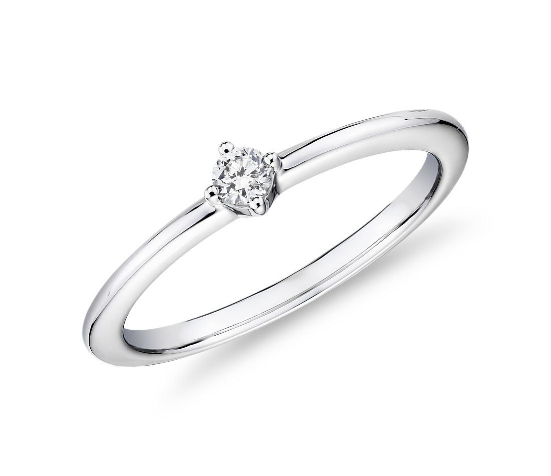 Mini Diamond Stackable Fashion Ring in 14k White Gold (1/10 ct. tw.)
