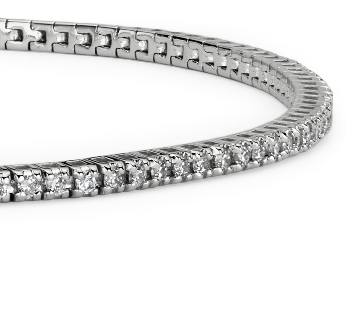 Mini Diamond Tennis Bracelet in 14k White Gold (5/8 ct. tw.)