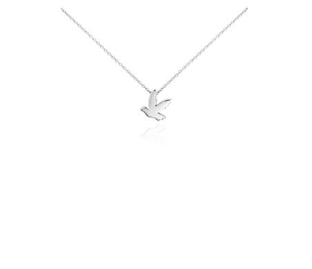 Mini dove pendant in sterling silver blue nile mini dove pendant in sterling silver aloadofball Images