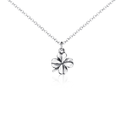 Mini Four Leaf Clover Pendant in Sterling Silver Blue Nile