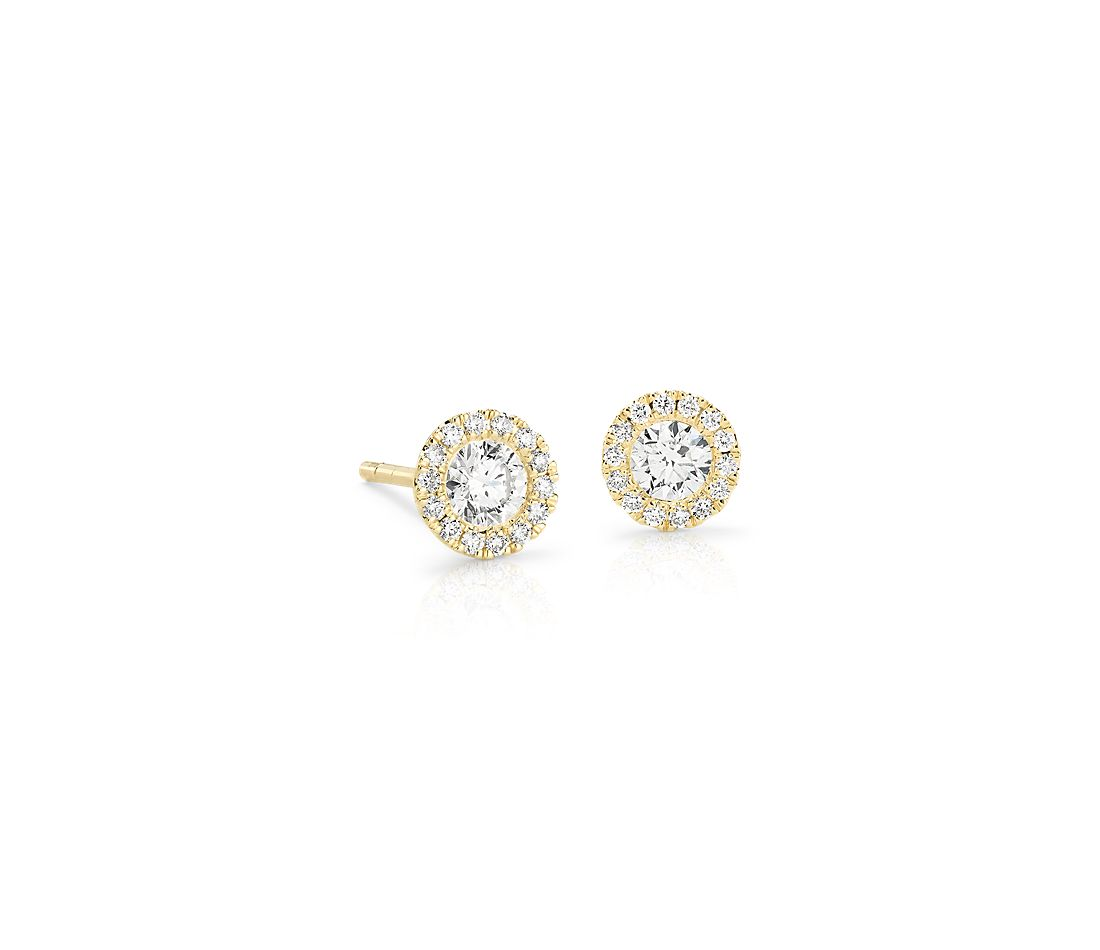 a569b34345d Martini Halo Diamond Earrings in 14k Yellow Gold (1 2 ct. tw ...
