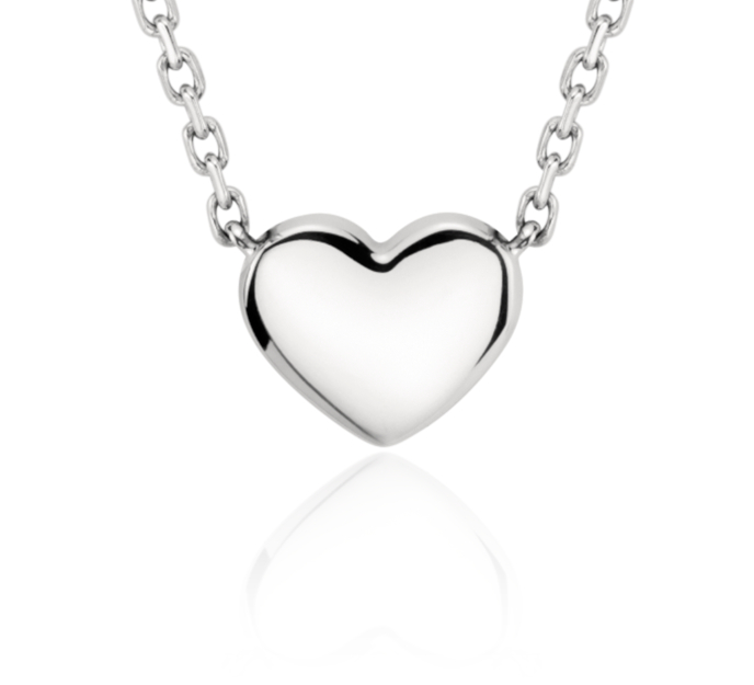 Collar pequeño con forma de corazón en platino