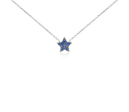 silver cabochon sapphire white genuine star and necklace necklaces sterling blue pendant