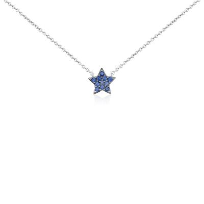 Mini Sapphire Star Pendant