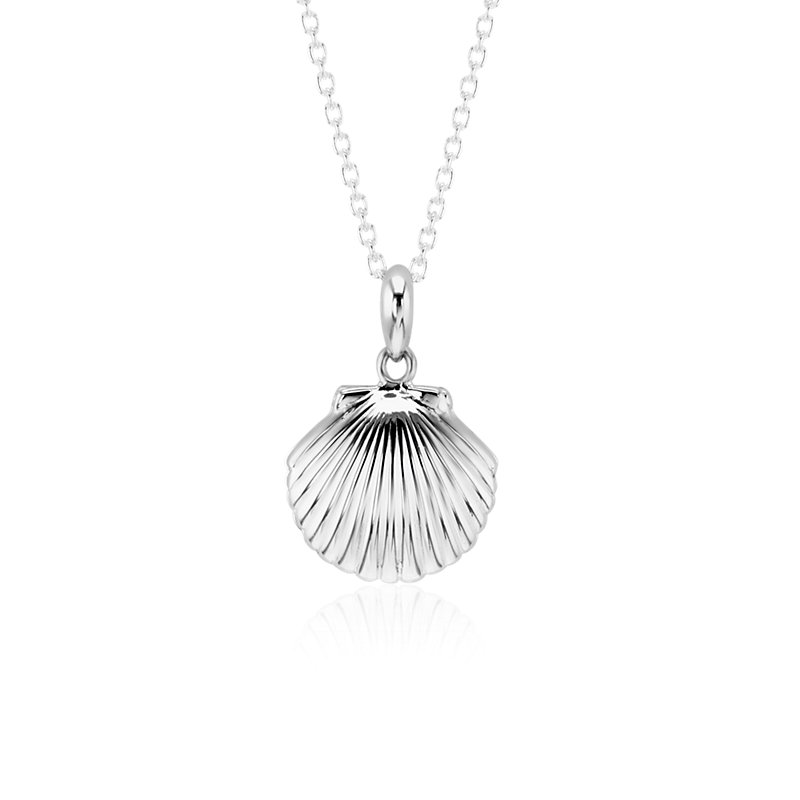 Mini Sea Shell Locket in Sterling Silver
