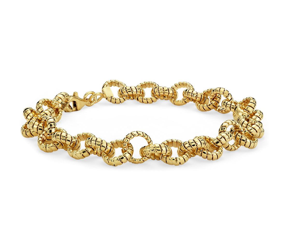 Mini Tubogas Link Bracelet in 14k Yellow Gold