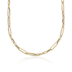 Mixed Link Necklace in 18k Italian Yellow Gold