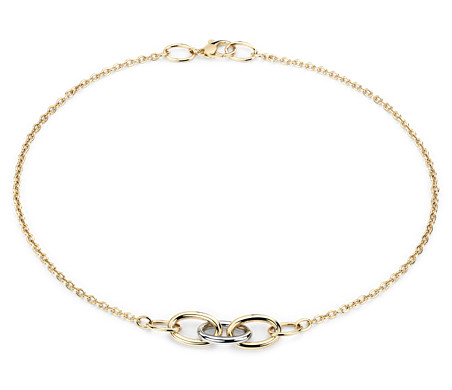 Blue Nile Twist Rope and Box Chain Necklace in 14k White and Yellow Gold L8mc7S
