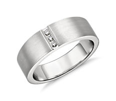 Modern Channel Diamond Ring in Platinum (1/12 ct. tw.)