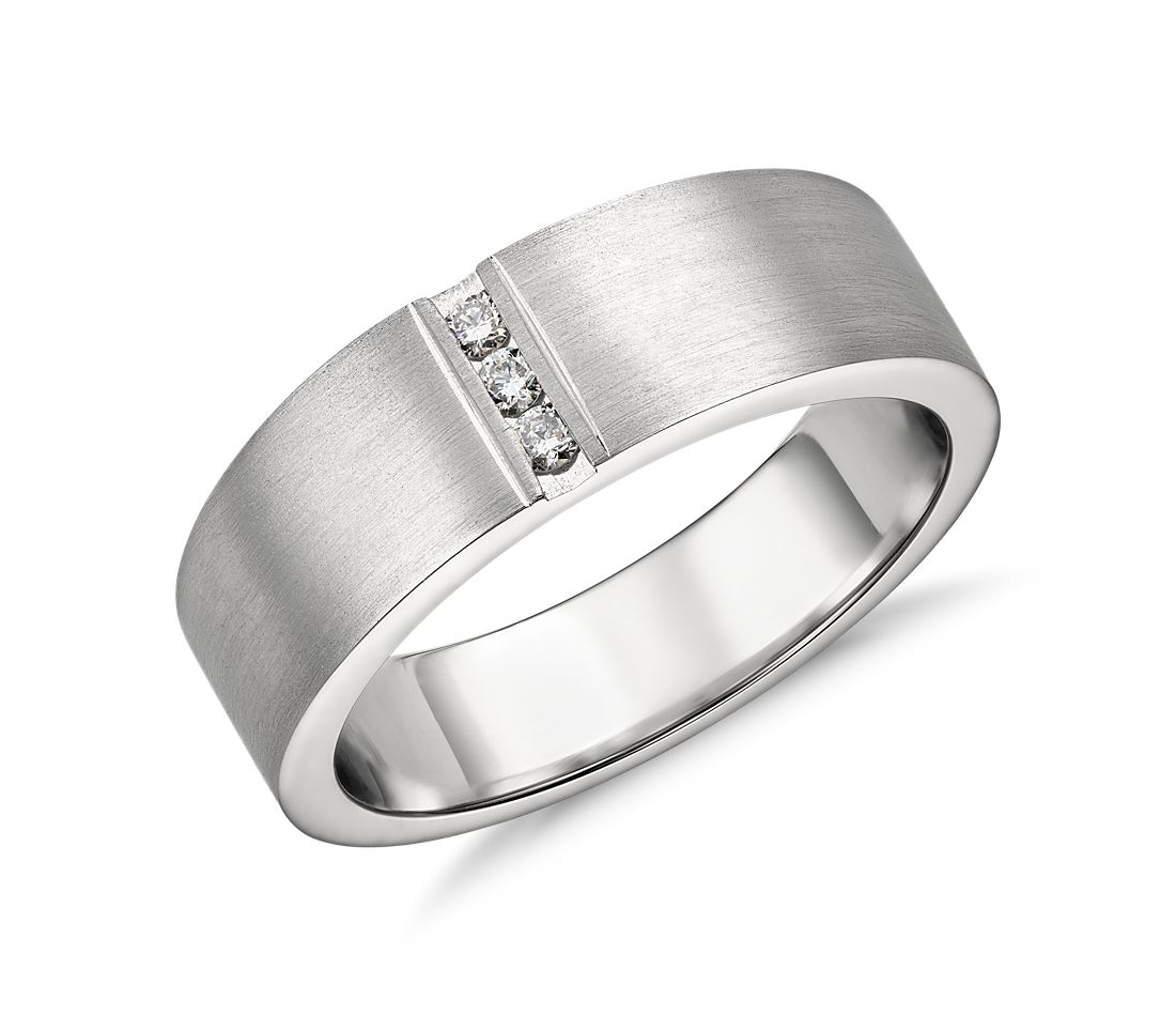 Single Diamond Wedding Ring in Platinum (7mm) | Blue Nile