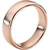 Alliance moderne et confortable en or rose 14 carats (6,5 mm)