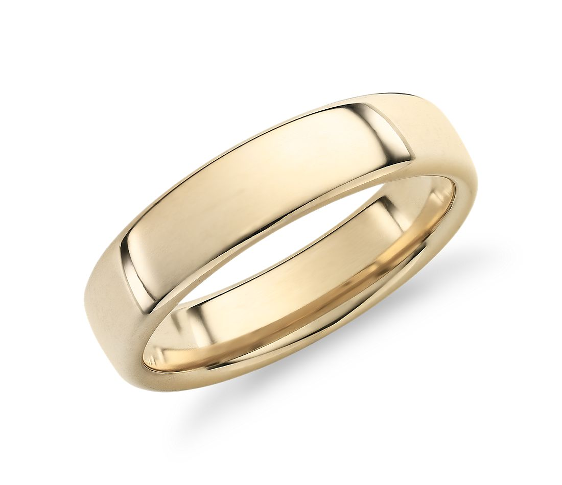 Modern Comfort Fit Wedding Ring in 14k Yellow Gold (5.5mm)