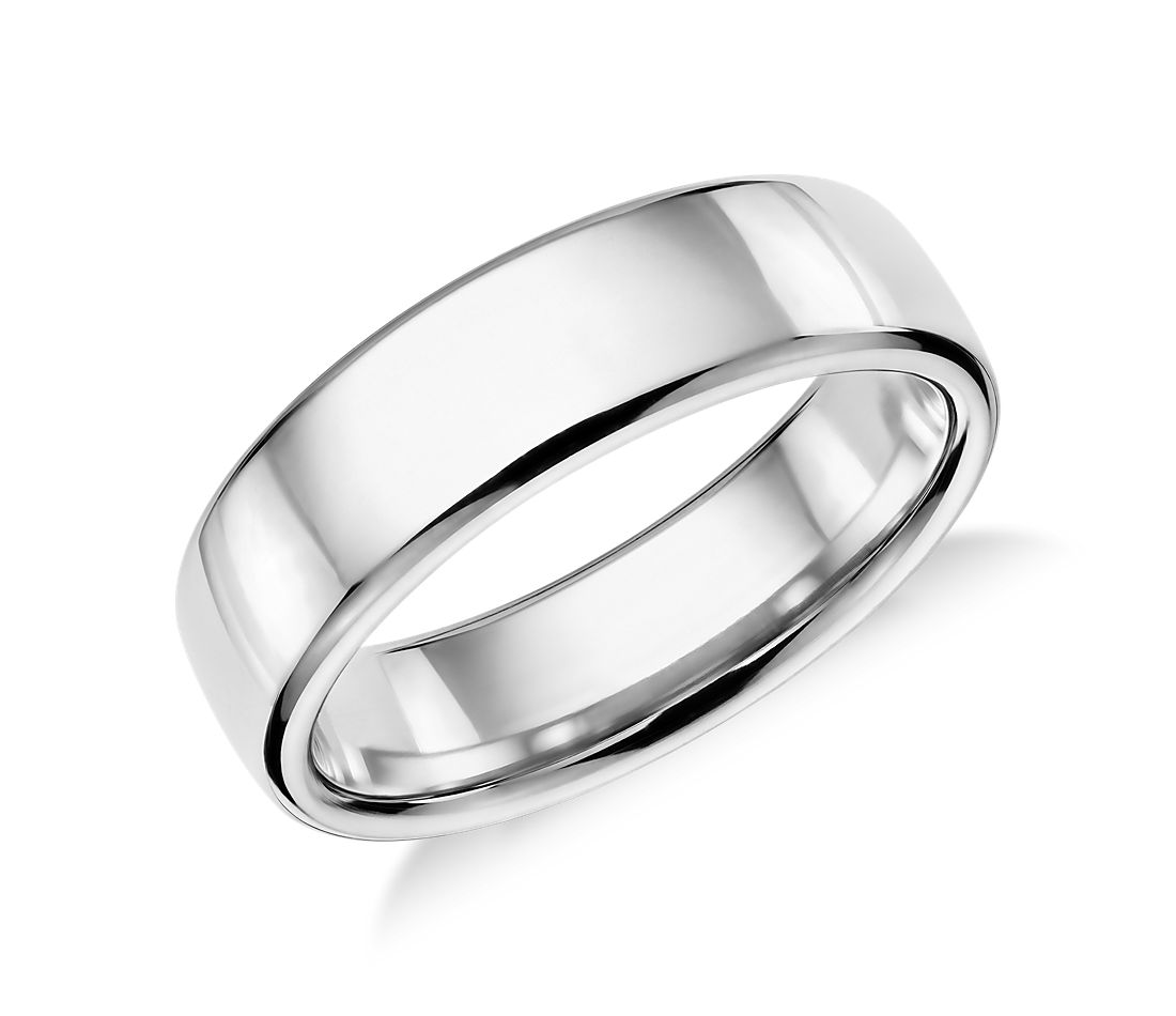 modern comfort fit wedding ring platinum platinum wedding bands Modern Comfort Fit Wedding Ring in Platinum 6 5mm