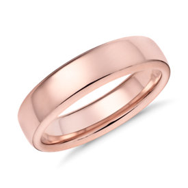 Alliance moderne et confortable en or rose 14 carats (5,5 mm)