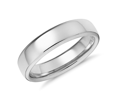 Modern Comfort Fit Wedding Ring in 14k White Gold (5.5mm)