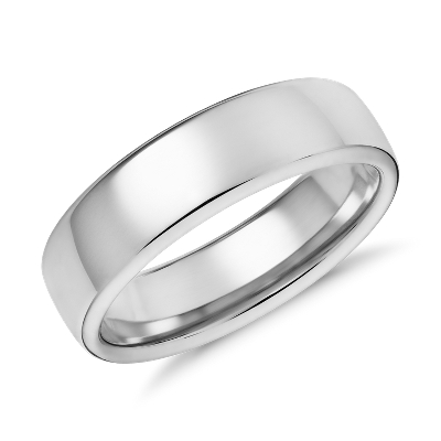 Modern Comfort Fit Wedding Ring in 14k White Gold 65mm Blue Nile