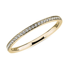 NEW Modern Micropavé Diamond Wedding Ring in 14k Yellow Gold (0.12 ct. tw.)