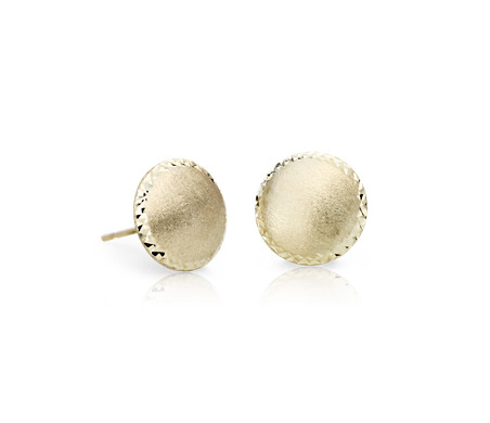 Blue Nile Hammered Stud Earrings in 14k Yellow Gold (9.5mm) olEoDL7