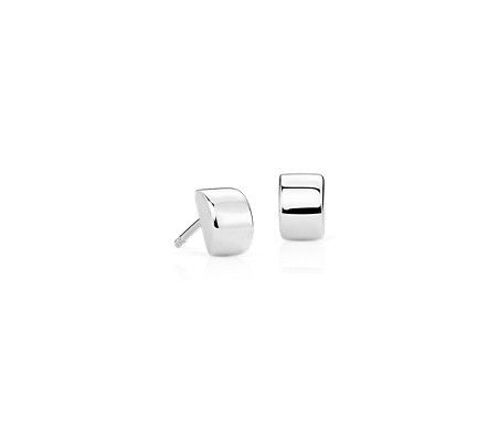 Modern Stud Earrings in Sterling Silver