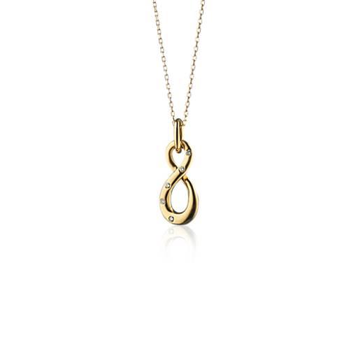 monica rich kosann diamond infinity charm pendant necklace