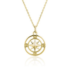 NEW Monica Rich Kosann Petite Compass Pendant in 18k Yellow Gold