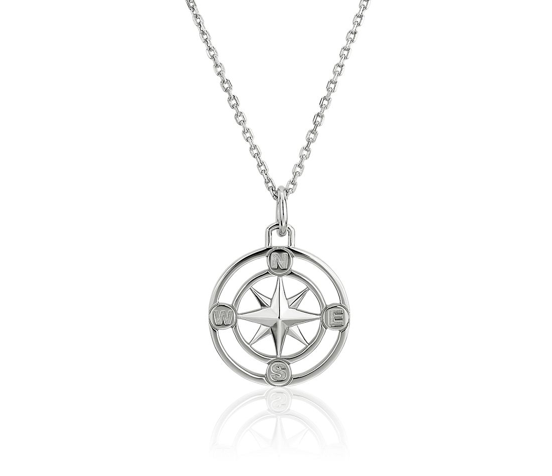Monica Rich Kosann Petite Compass Pendant in Sterling Silver