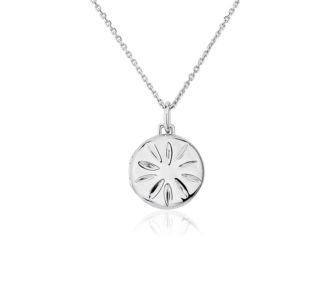 Monica Rich Kosann Round Slim Locket in Sterling Silver