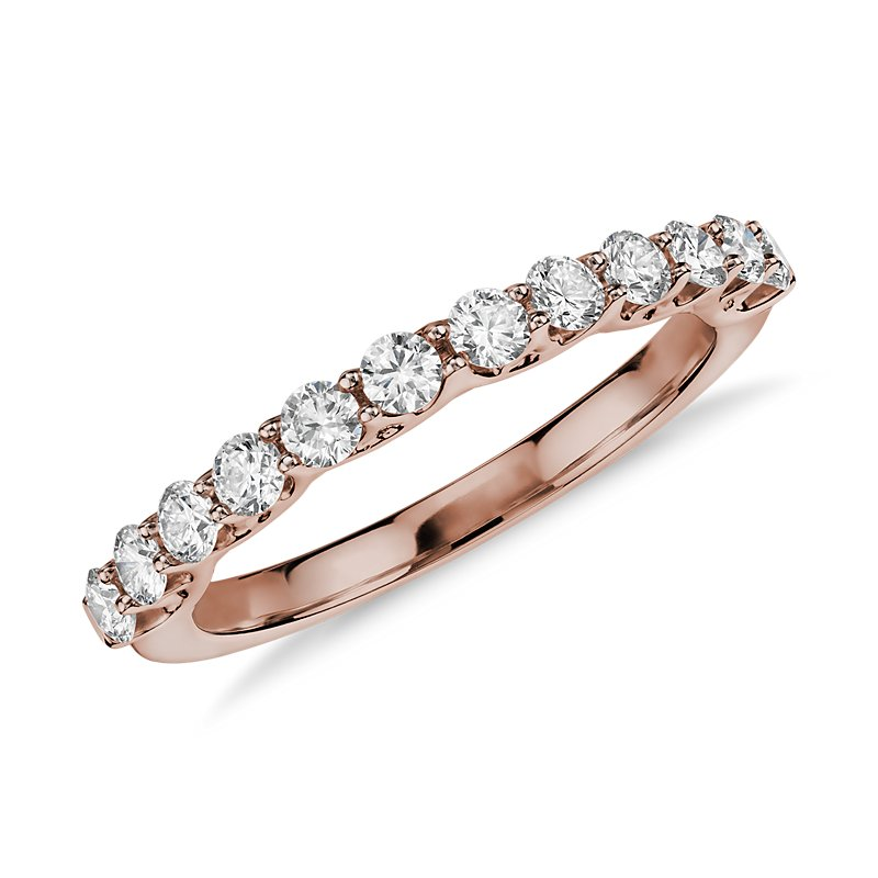 Monique Lhuillier Adoration Diamond Ring in 18k Rose Gold (1/2 ct
