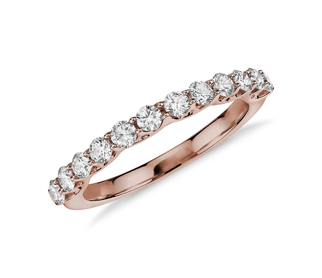 Monique Lhuillier Adoration Diamond Ring in 18k Rose Gold