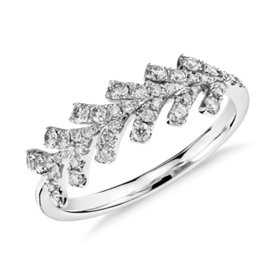 Monique Lhuillier Wishbone Diamond Ring in Platinum