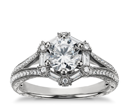 grey thin dana double solitaire platinum prong in delicate custom lily unique products bridal ring diamond grande walden engagement