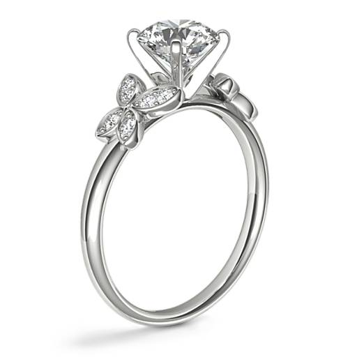Monique Lhuillier Butterfly Diamond Engagement Ring