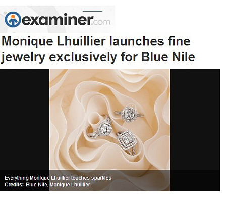 Monique Lhuillier Twist Cathedral Diamond Engagement Ring featured in Examiner.com