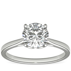 Monique Lhuillier Cathedral Solitaire in Platinum