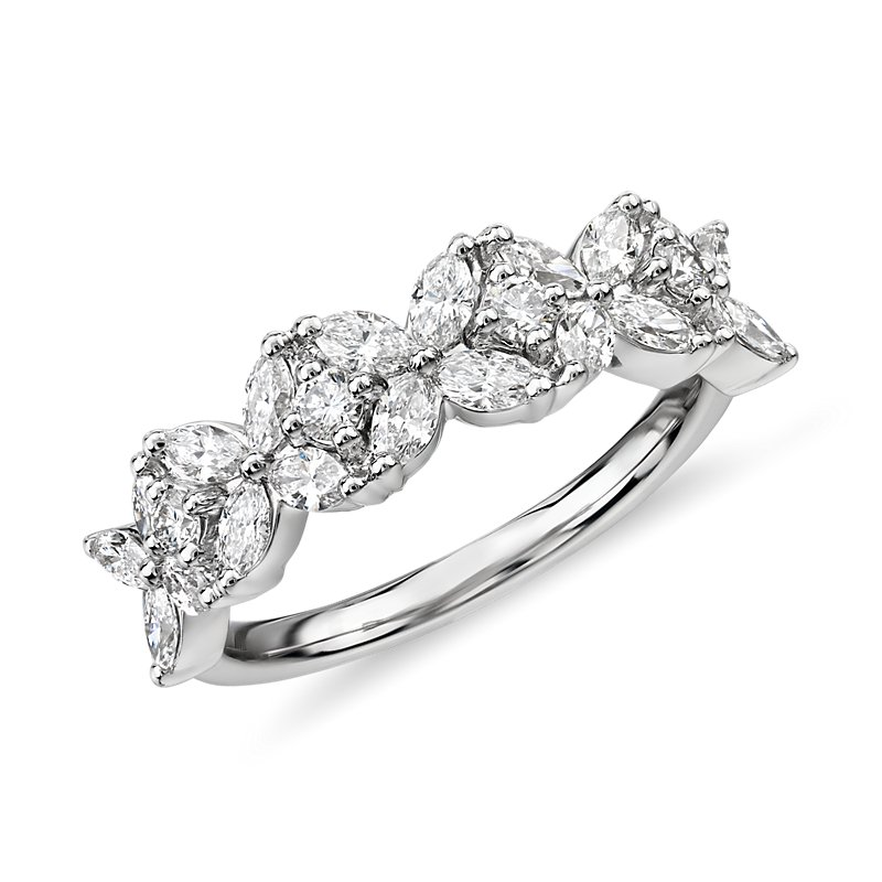 Monique Lhuillier Cherie Diamond Anniversary Ring in Platinum (2/